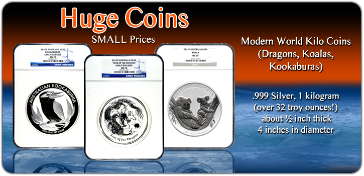 Modern World Kilo Coins