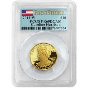 2012 W First Spouse Caroline Harrison Half Ounce Gold PR69 DCAM FS PGCS