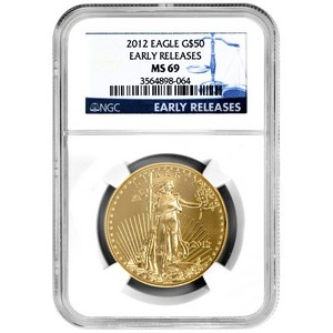 2012 Gold American Eagle 1oz MS69 ER NGC Blue Label