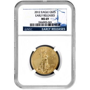 2012 Gold American Eagle Half Ounce MS69 ER NGC Blue Label