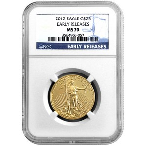 2012 Gold American Eagle Half Ounce MS70 ER NGC Blue Label
