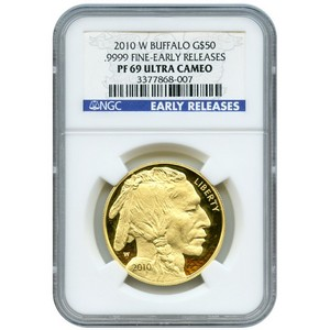 2010 W Gold Buffalo 1oz PF69 UC ER NGC