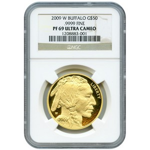 2009 W Gold Buffalo 1oz PF69 UC NGC