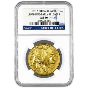 2012 Gold Buffalo 1oz MS70 ER NGC Blue Label
