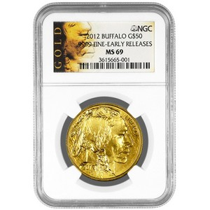 2012 Gold Buffalo 1oz MS69 ER NGC Buffalo Label