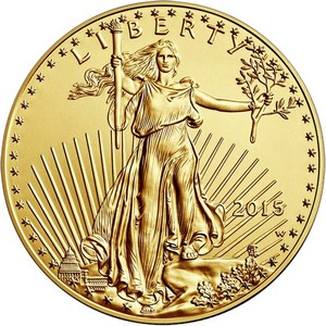 2015 Gold American Eagle Tenth Ounce BU