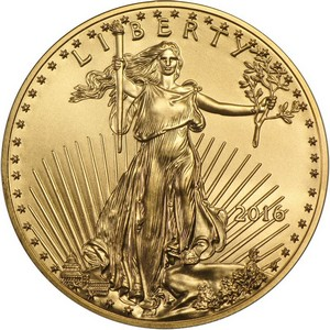 2016 Gold American Eagle Quarter Ounce BU