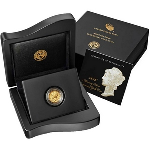 2016 W Gold Mercury Dime Centennial Coin Tenth Ounce in OGP