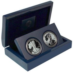 2012 S Silver American Eagle 2pc Proof Set in OGP