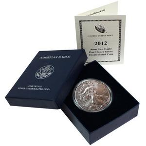 2012 W Silver American Eagle BU Burnished in OGP