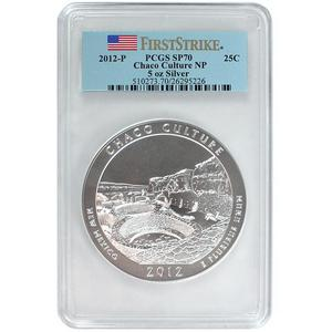 2012 P America The Beautiful Silver 5oz Chaco Culture SP70 FS PCGS