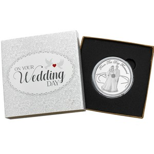 Wedding Couple 1oz .999 Silver Medallion Dated 2013