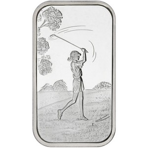 Golfer Female 1oz .999 Silver Bar