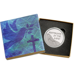 Footprints 1oz .999 Silver Medallion