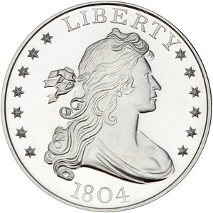 1804 $1 Replica 1oz .999 Silver Medallion