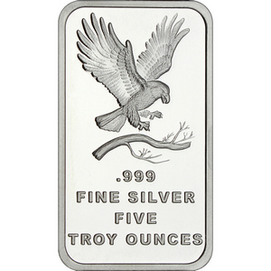 SilverTowne Trademark Eagle 5oz .999 Silver Bar