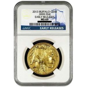 2013 Gold Buffalo 1oz MS69 ER NGC Blue Label