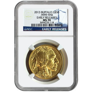 2013 Gold Buffalo 1oz MS70 ER NGC Blue Label