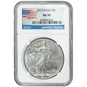 2013 Silver American Eagle MS70 NGC Country Label