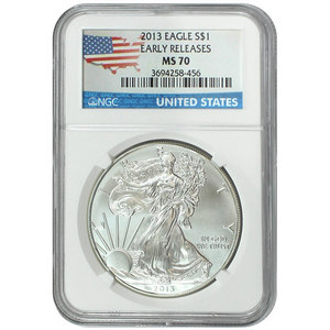 2013 Silver American Eagle MS70 ER NGC Country Label