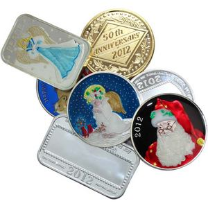 Our Choice Design Silver 1oz Medallion or Ingot Enameled or Goldplated Dated 2012
