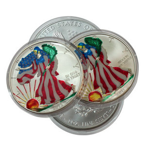 Silver American Eagle Enameled Our Choice Date