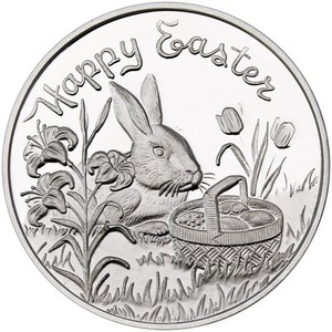 Happy Easter 1oz .999 Silver Medallion Dated 2016