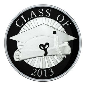 Graduation Class of 2013 1oz .999 Silver Medallion Enameled