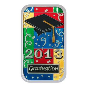 2013 Graduation 1oz .999 Silver Bar Enameled