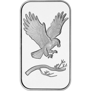 SilverTowne Trademark Bald Eagle 1oz .999 Silver Bar