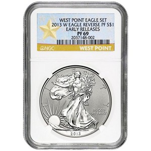 2013 W Silver American Eagle Reverse Proof PF69 ER NGC Star Label