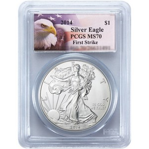 2014 Silver American Eagle MS70 FS PCGS Eagle Label
