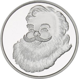 2015 Santa Face Half Ounce .999 Silver Medallion