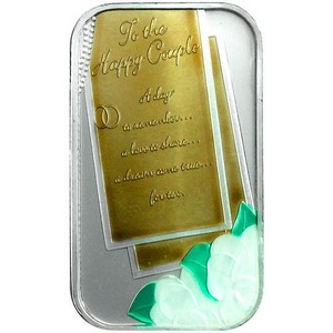 Wedding Invitation 1oz .999 Silver Bar Enameled