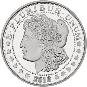 2013 Morgan Dollar Replica 1oz .999 Silver Medallion