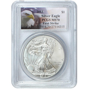 2013 Silver American Eagle MS70 FS PCGS Eagle Label