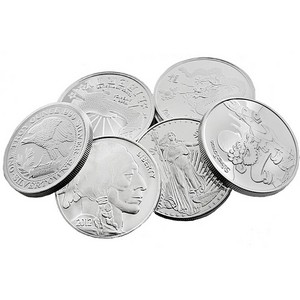 Our Choice 1oz .999 Silver Medallion 5pc