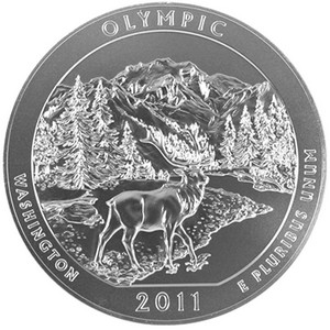 2011 P America The Beautiful Silver Olympic 5oz Vapor Blasted UNC
