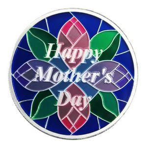 Mothers Day 1oz .999 Silver Medallion Enameled