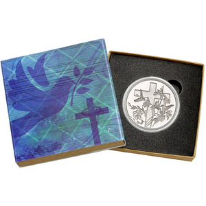 Religious Cross 1oz .999 Silver Medallion