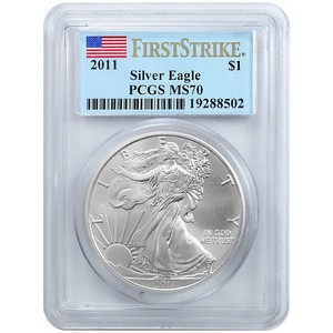 2011 Silver American Eagle MS70 FS PCGS Flag Label