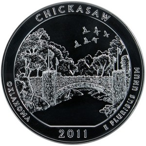 2011 America The Beautiful Silver 5oz Chickasaw UNC
