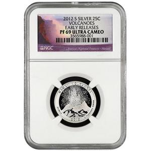 2012 S America The Beautiful Quarter Silver Volcanoes PF69 UC ER NGC