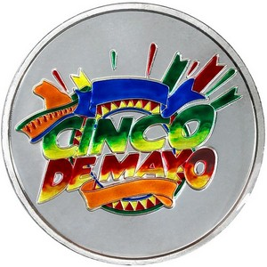 Cinco De Mayo 1oz .999 Silver Medallion Enameled