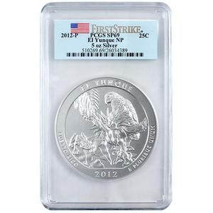 2012 P America The Beautiful Silver 5oz El Yunque SP69 FS PCGS