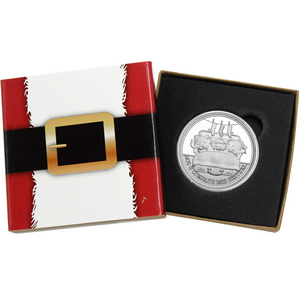 2015 Christmas Buddies Santa and Reindeer 1oz .999 Silver Medallion