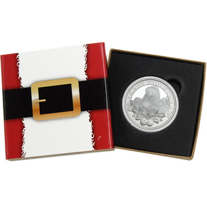 2015 Santa's Profile 1oz .999 Silver Medallion