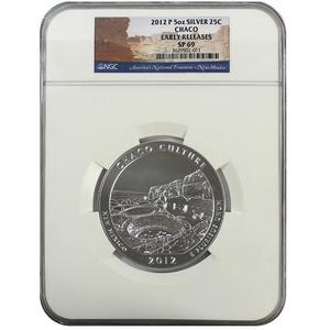 2012 P America The Beautiful Chaco Culture Silver 5oz SP69 ER NGC