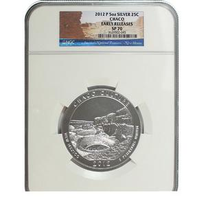 2012 P America The Beautiful Chaco Culture Silver 5oz SP70 ER NGC