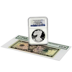 2012 S SAE PF70 UC ER Blue Label NGC and 2009 Series $5 Note San Francisco GEM PMG Coin and Currency Set